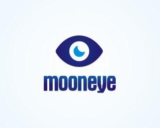 简单又富有创意的月亮形象标志设计作品