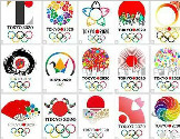 日本民间设计的东京奥运LOGO欣赏
