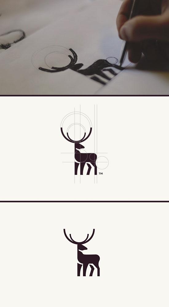 鹿logo标识设计欣赏 Logo征集 全球征集网 全球设计网 第一征集网 标识logo 吉祥物 广告语 商品