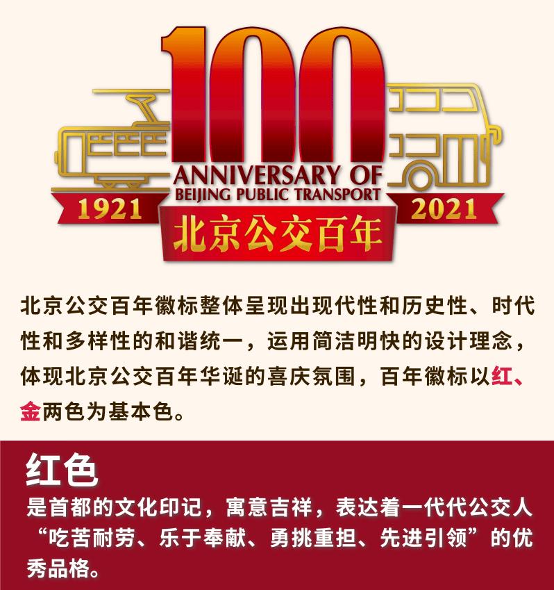 北京公交建企100周年徽标正式发布!